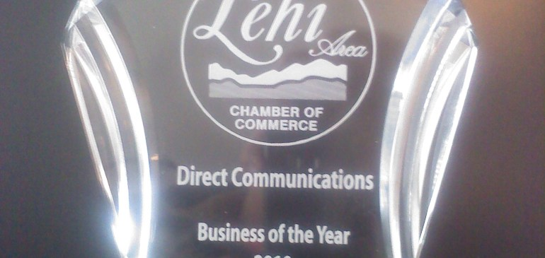 Direct Communications Awarded 2010 Best Business of the Year