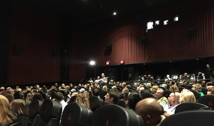 Prison Dogs audience at Tribeca Film Festival