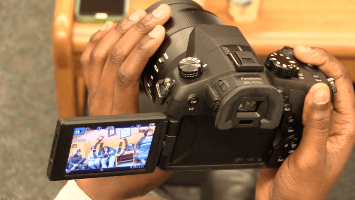 Shewonda Leger filming