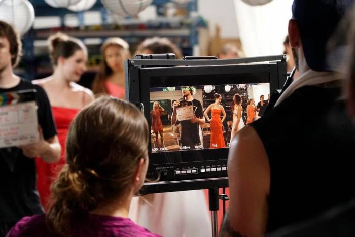 On the set of I Now Pronounce You [Photo by Adam Breo]