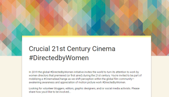 Explore and contribute to the #DirectedbyWomen Global