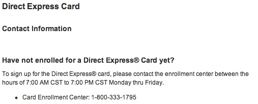 """Apply for Direct Express Card"""
