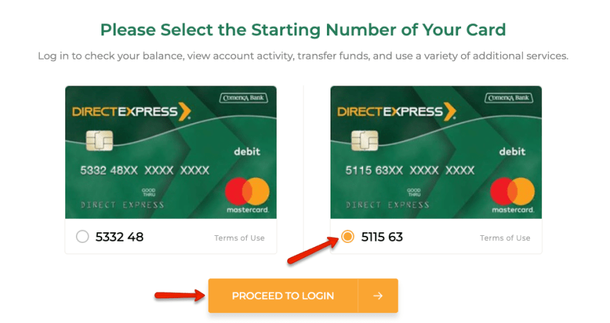 """How to login to Direct Express account 4"""