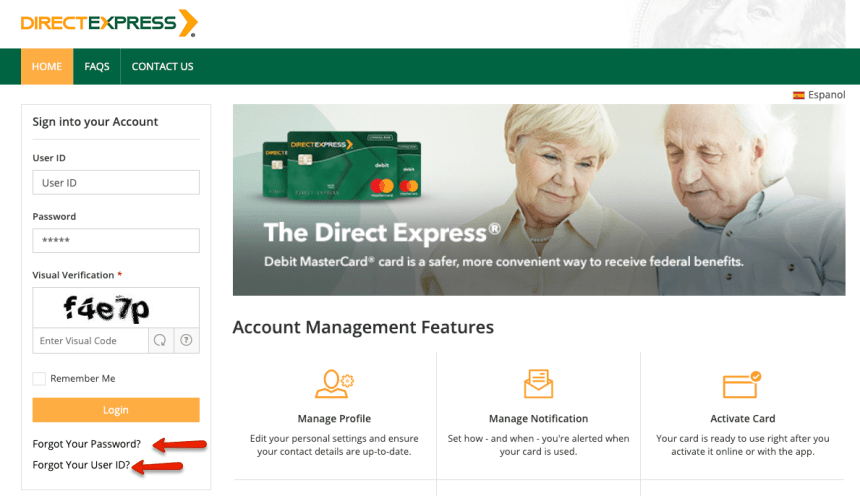"""How to login to Direct Express account 6"""