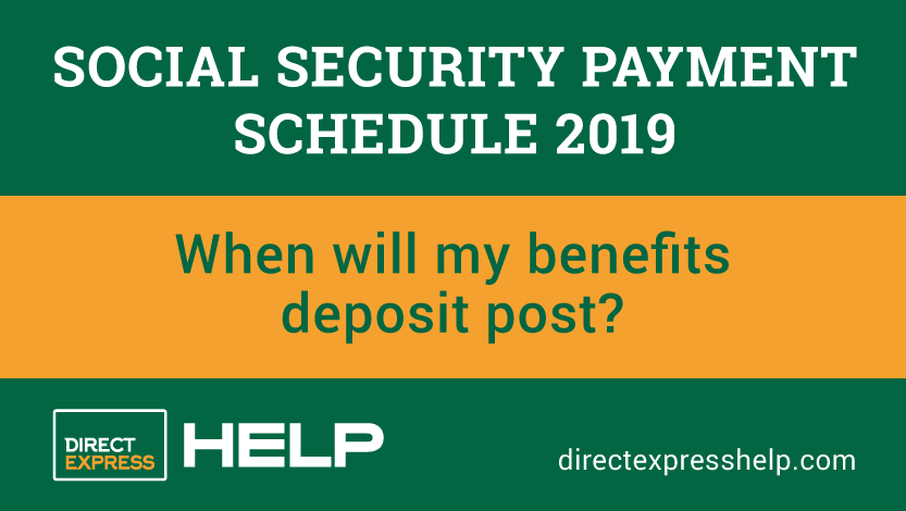 """""""Social Security Payment Schedule 2019"""""""