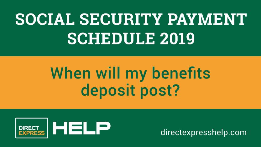 Social Security Payment Calendar 2019 Social Security Payment Schedule 2019   Direct Express Card Help