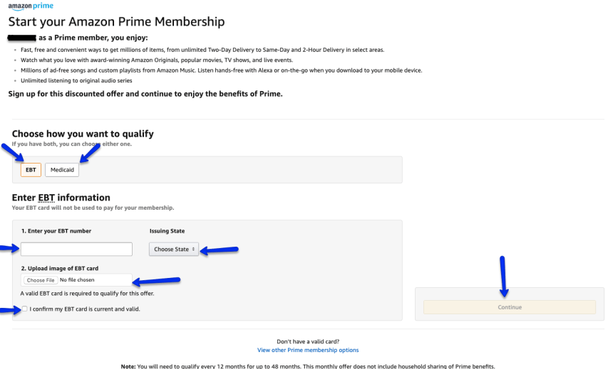 """Amazon Prime Discount for EBT and Medicaid Cardholders"""