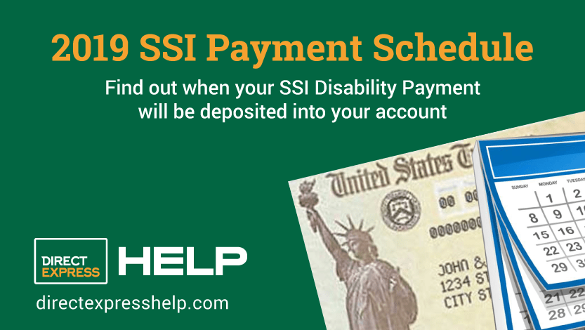 """Here is the SSI Payments Calendar for 2019"""