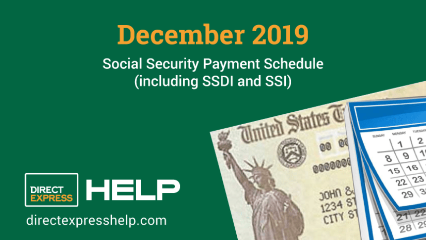"""December 2019 Social Security Payment Schedule"""