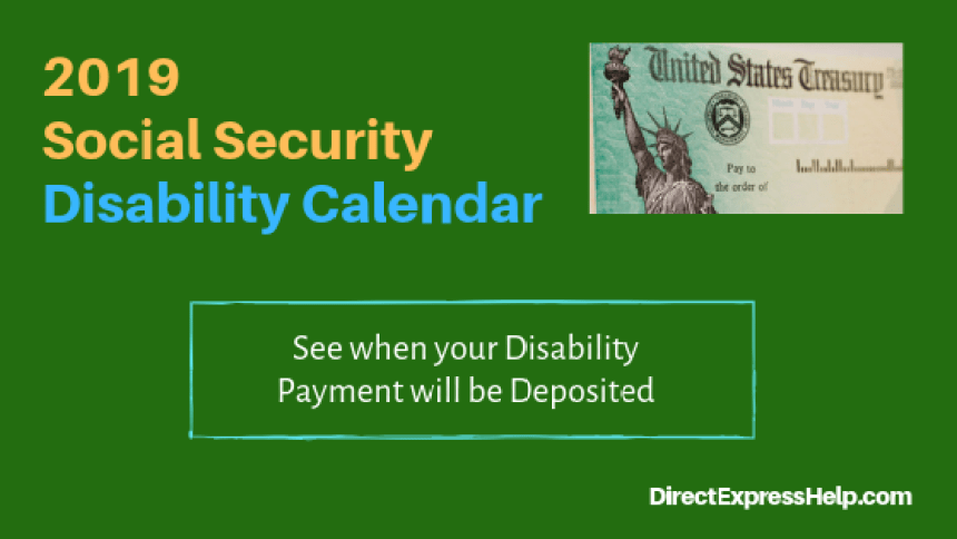 """2019 Disability Calendar for Social Security"""