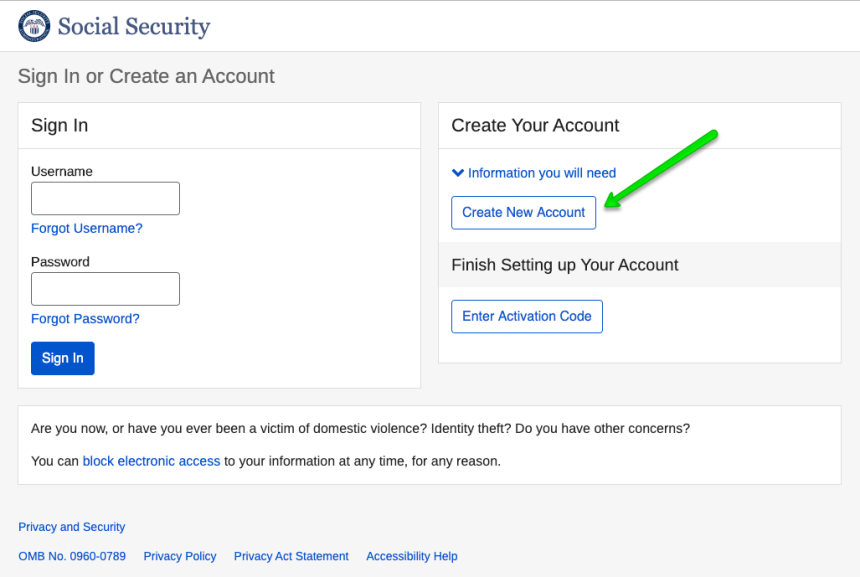 """Create a my Social Security Account"""