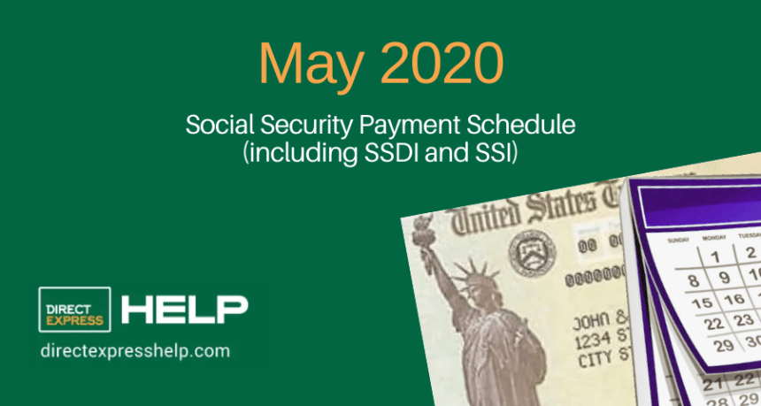"""May 2020 Social Security Payment Schedule"""