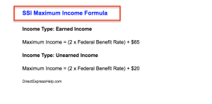 """SSI Maximum Income limit calculator"""