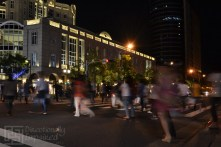 Pedestrian Crossing (Taipei City Hall MRT Station): An attempt at night shots