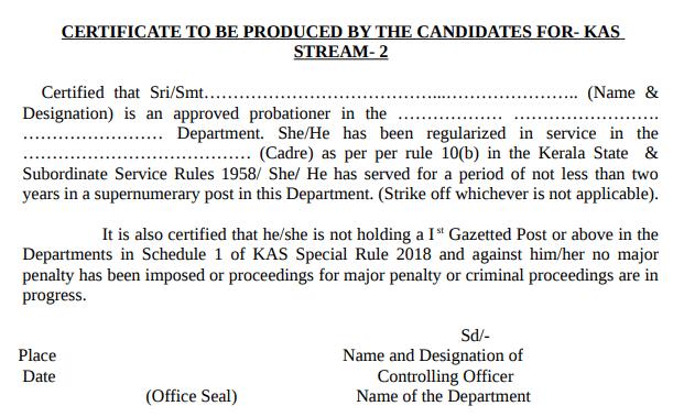 Here's a screenshot of the Kerala PSC Vacancy Notification 2019.