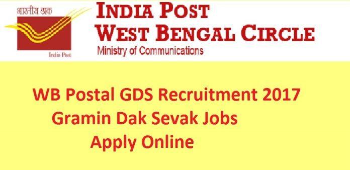 West Bengal Postal Circle Recruitment 2018 GDS Apply Online