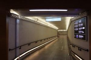 新竹車站出站後地下道