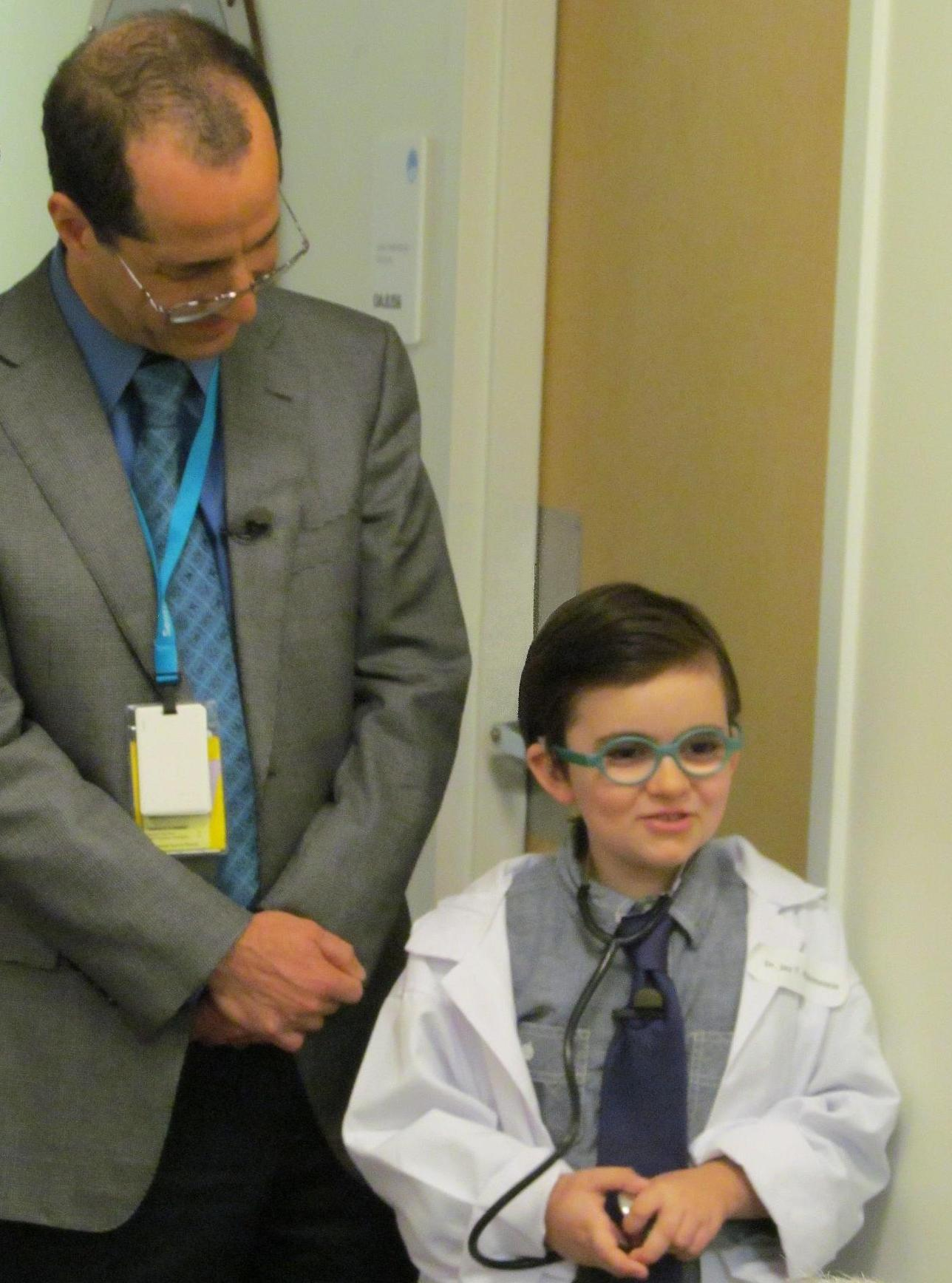 Photo of a tall man in glasses wearing a tie looking down at a young boy  sc 1 st  NIH Directoru0027s Blog : halloween costumes for tall people  - Germanpascual.Com