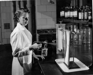 Woman in the lab