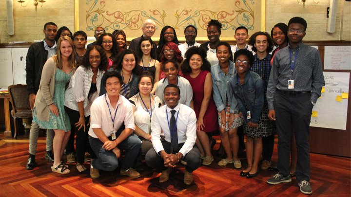 Francis Collins and HiSTEP students