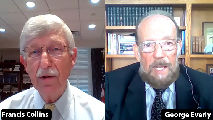 Drs. Collins and Everly on a virtual chat