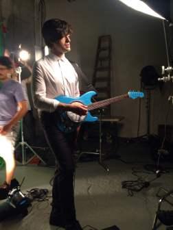 Kurt with the clock guitar