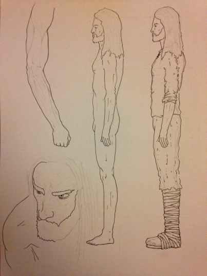 Aengus sketches for Olga