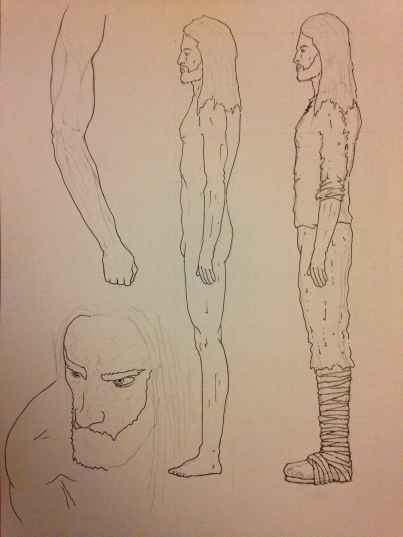 Aengus sketches for Olga