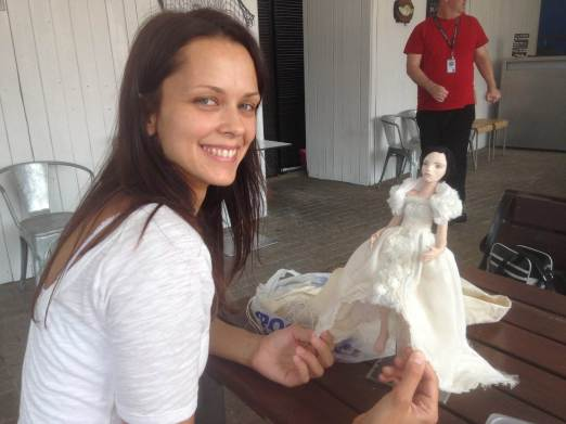 Olga Lunina with puppet