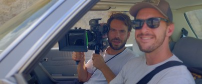 DP Daryl Hefti and a subject of our upcoming episodes prepping the shot