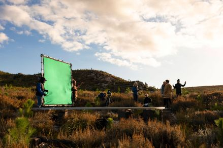 Dolly green screen set up