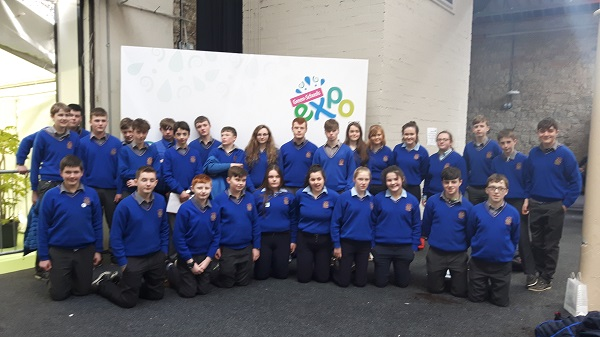 St Joseph's College Borrisoleigh Green Committee at the Green Schools Expo in the RDS