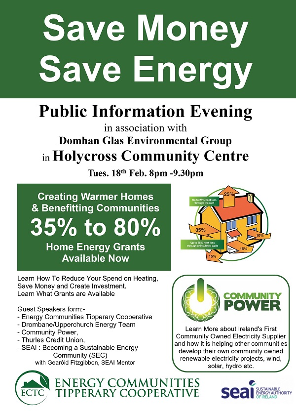 Energy Information Event Holycross Tuesday 18th February 2020