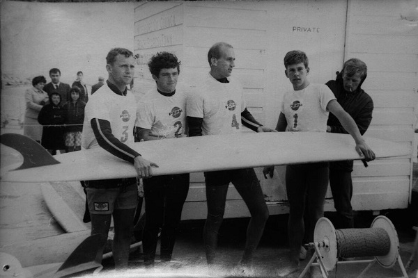From the first Irish National Surfing Championships held in Tramore, Co Waterford, 1967