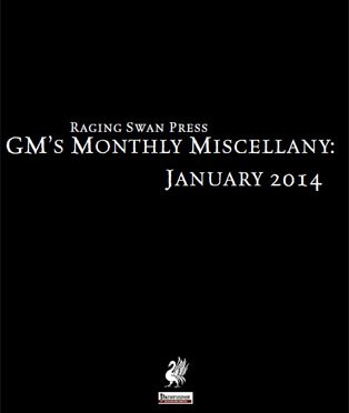 Free Role Playing Game Supplement Review: GM's Monthly Miscellany: January 2014