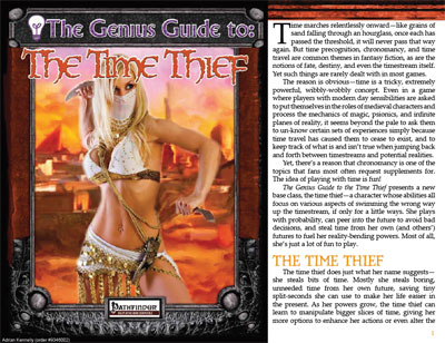 The Genius Guide to the Time Thief