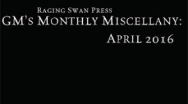 GM's Monthly Miscellany: April 2016