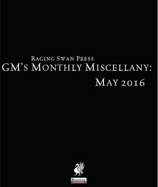 Free Role Playing Game Supplement Review: GM's Monthly Miscellany: May 2016