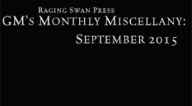 GM's Monthly Miscellany: September 2015