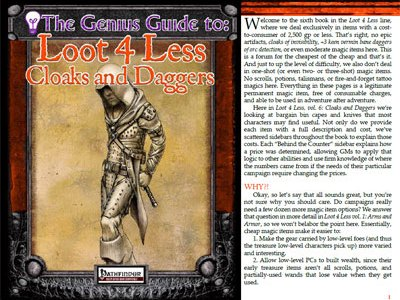The Genius Guide to Loot 4 Less Vol. 6: Cloaks and Daggers