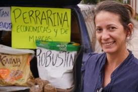 SOBRE|vivientes Vendedores Informales Perfil: Dorella Producto: Perrarina y alimento para mascotas Ubicación: Avenida España