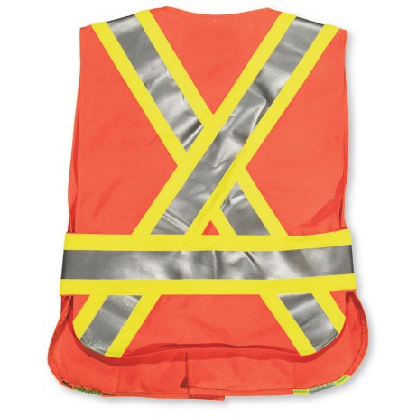 orange big k hi vis tear away vest back