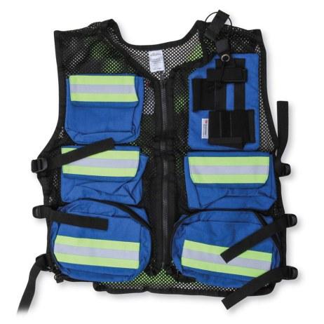 Black and Blue Mesh Vest