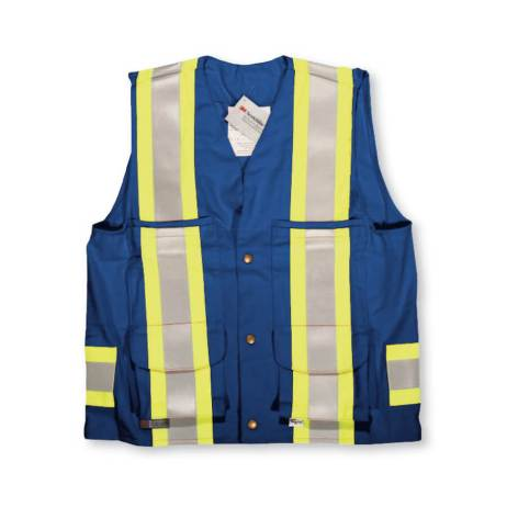 bue fire retardant surveyors vest
