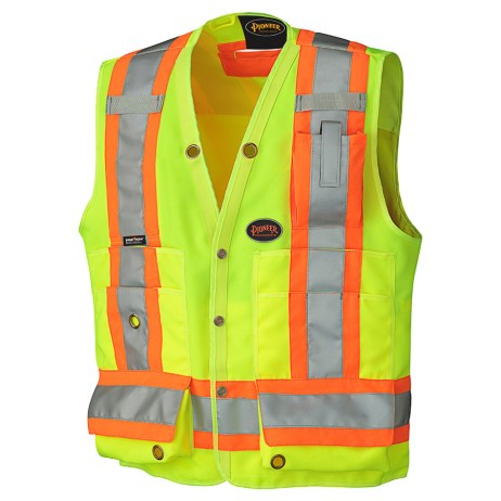 yellow hi vis surveyor vest