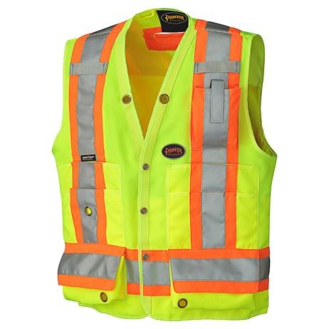yellow hi vis surveyor vest