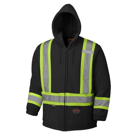black boa hoodie