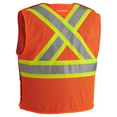 orange hi vis fr vest back