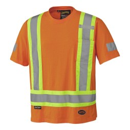 orange cotton hi vis shirt