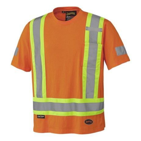 orange cotton hi vis shirt